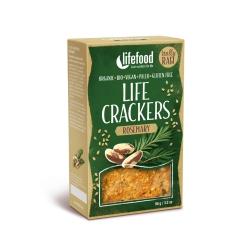 LIFE CRACKERS Rozmarýnové BIO RAW (balení 90 g)
