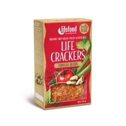 LIFE CRACKERS Rajčatové BIO RAW (balení 90 g)