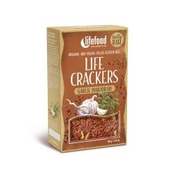 LIFE CRACKERS à la bramborák česnekové s majoránkou BIO RAW (balení 90 g)