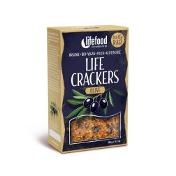 LIFE CRACKERS Olivové BIO RAW (balení 90 g)