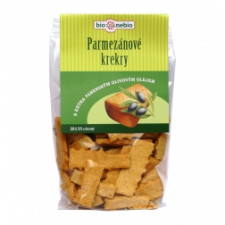 Bio parmezánové krekry s olivovým olejem 130 g