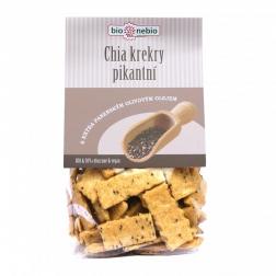 Bio chia krekry pikantní s olivovým olejem 130 g