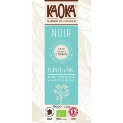 Bio hořká čokoláda Fleur de sel KAOKA 100 g
