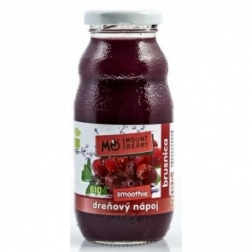 BIO SMOOTHIE dřeňový nápoj - BRUSINKA 200ml WELLBERRY