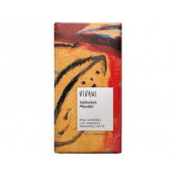 Bio mléčná čokoláda s mandlemi VIVANI 100 g