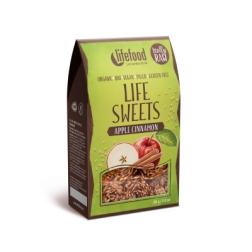 LIFE SWEETS Jablečné lněnky se skořicí BIO RAW 80g lifefood