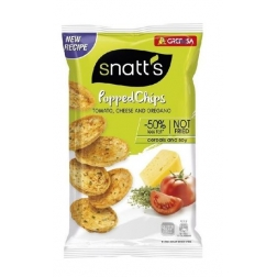 POPPED CHIPS - BEZLEPKOVÉ - rajče, sýr a oregano 75g Snatts