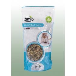 100 % rostlinné krmivo pro činčily a pískomily 1 kg AMI