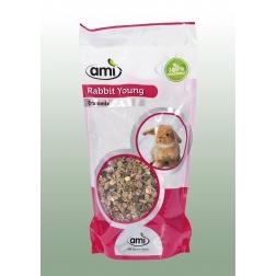 100 % rostlinné krmivo pro mladé králíky 1 kg AMI