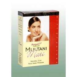 Prášek MULTANI MATI - přírodní pleťová maska 100 g AYUURI