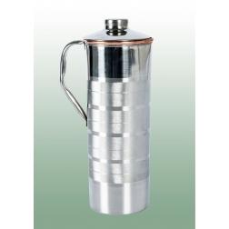 Měděná nádoba na vodu v nerezovém designu 0,75 l