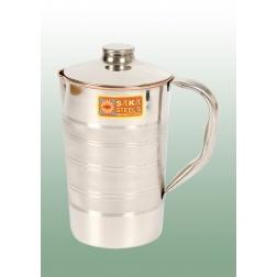 Měděná nádoba na vodu v nerezovém designu 1 l