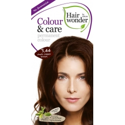 Hairwonder Přírodní dlouhotrvající barva BIO TMAVĚ MĚDĚNÁ HNĚDÁ 3.44